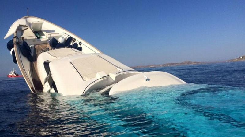 В Эгейском море потерпела крушение яхта