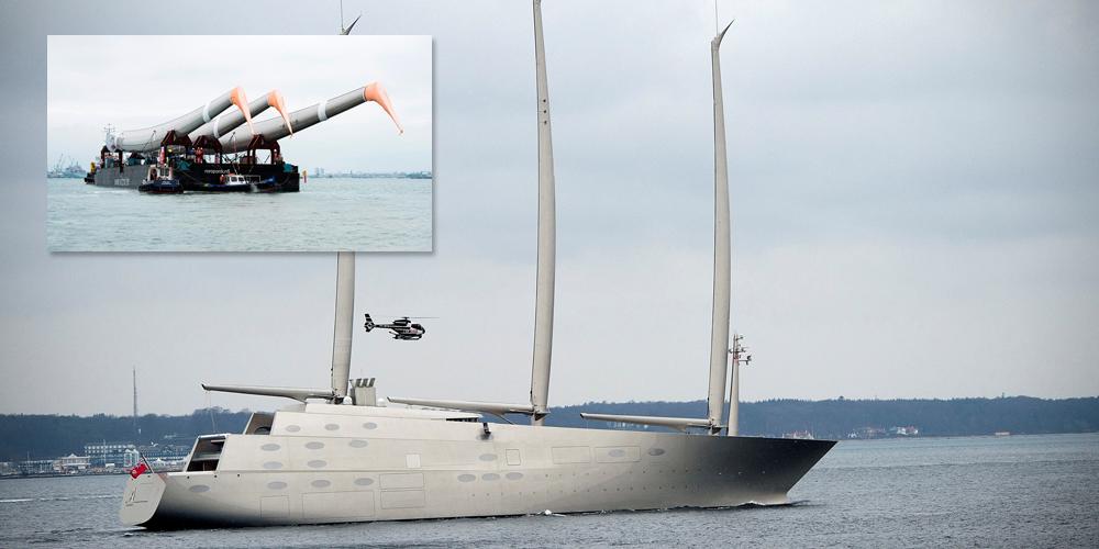 Самая большая парусная яхта Sailing Yacht A покинула порт Киля