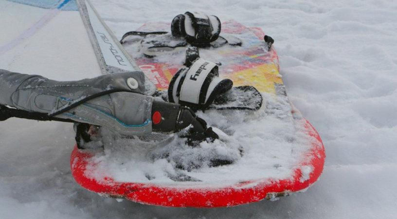 Российский чемпионат по зимнему виндсерфингу откладывается из-за слабого ветра