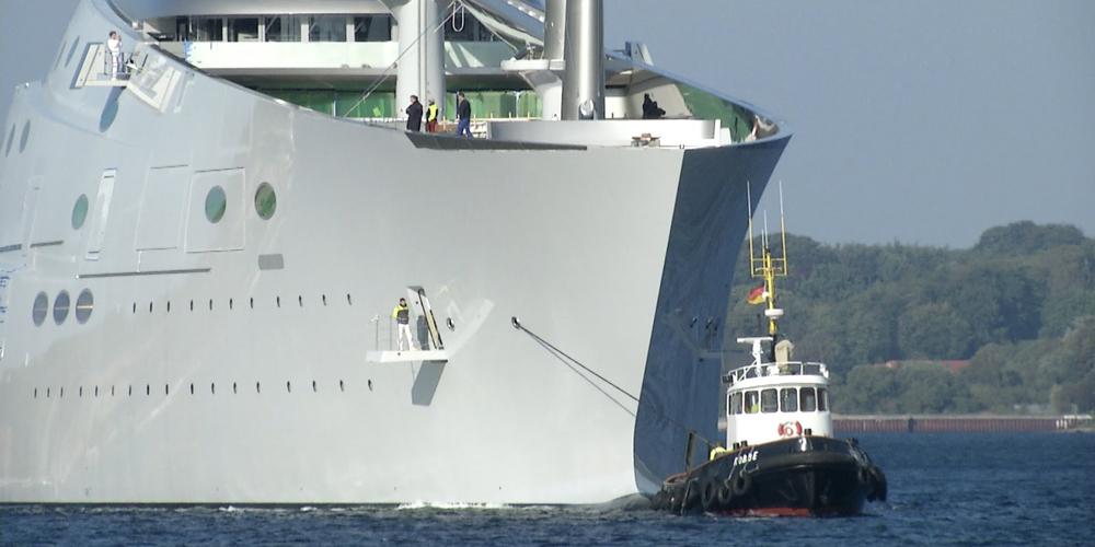 В Гибралтарском проливе арестована одна из крупнейших парусных яхт